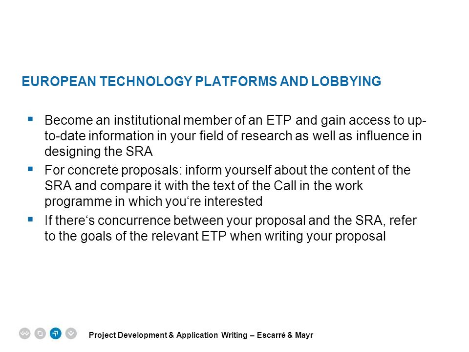 European Technology Platforms and Lobbying