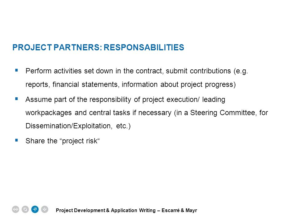 Project Partners: Responsabilities