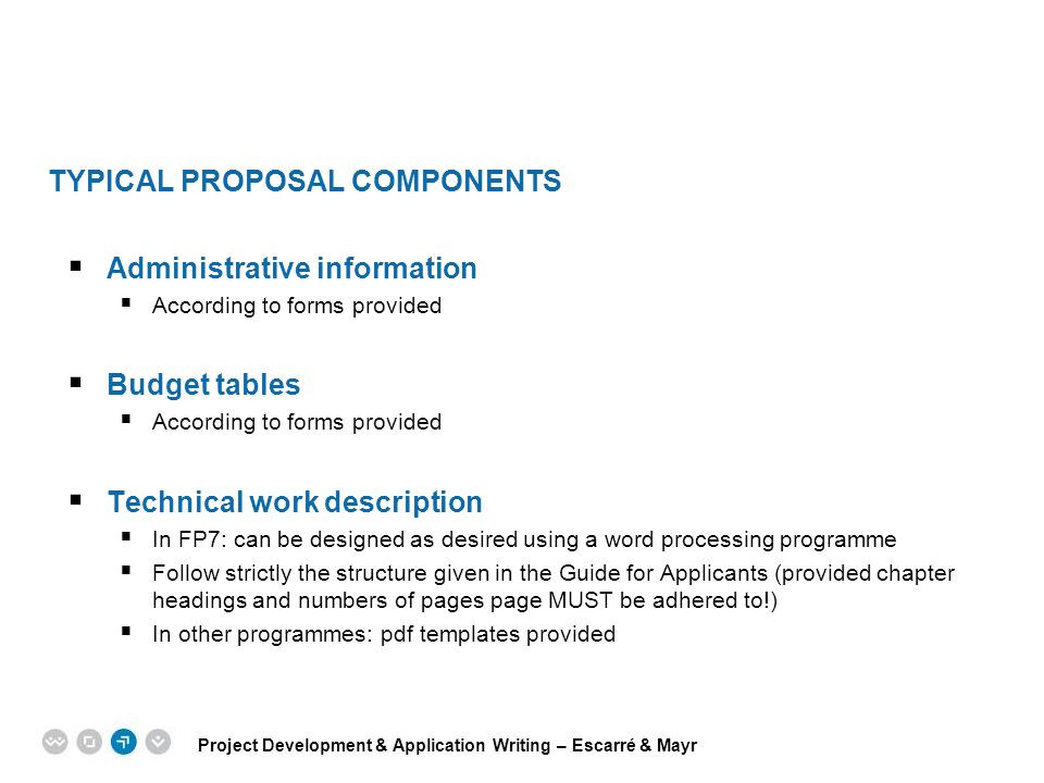 Typical Proposal Components