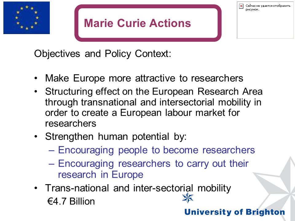 Marie Curie Actions Objectives and Policy Context: