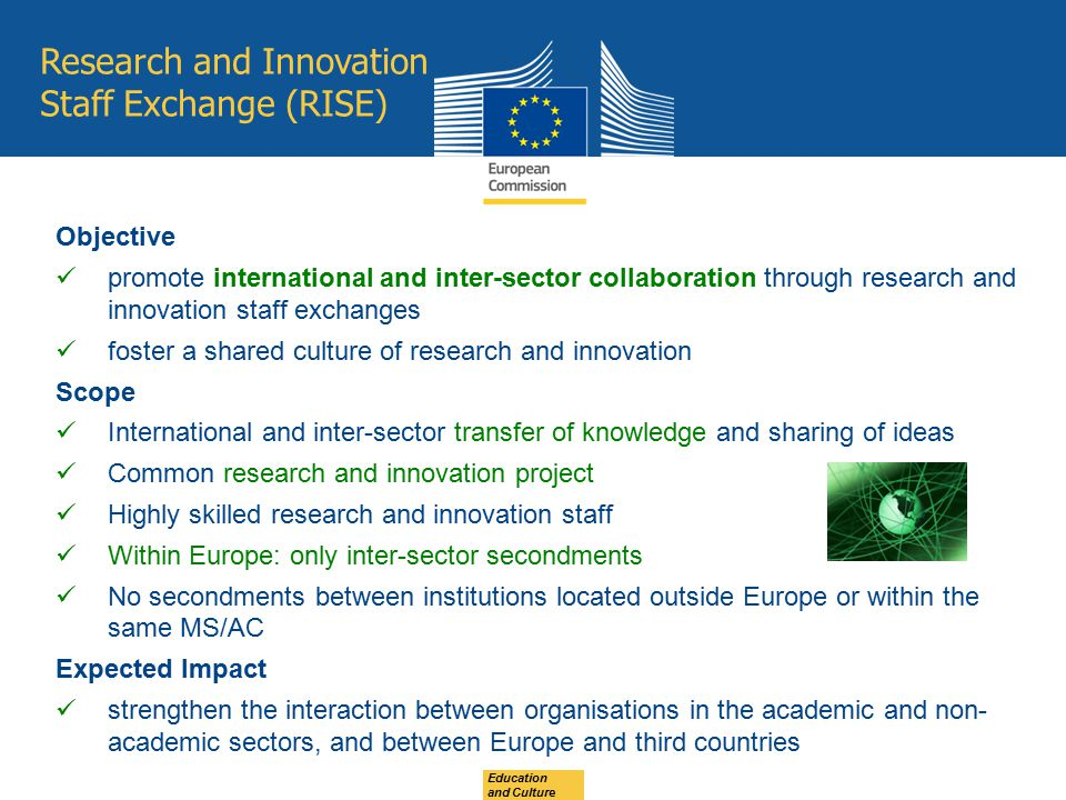 Research and Innovation Staff Exchange (RISE)