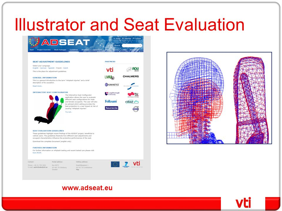 Illustrator and Seat Evaluation