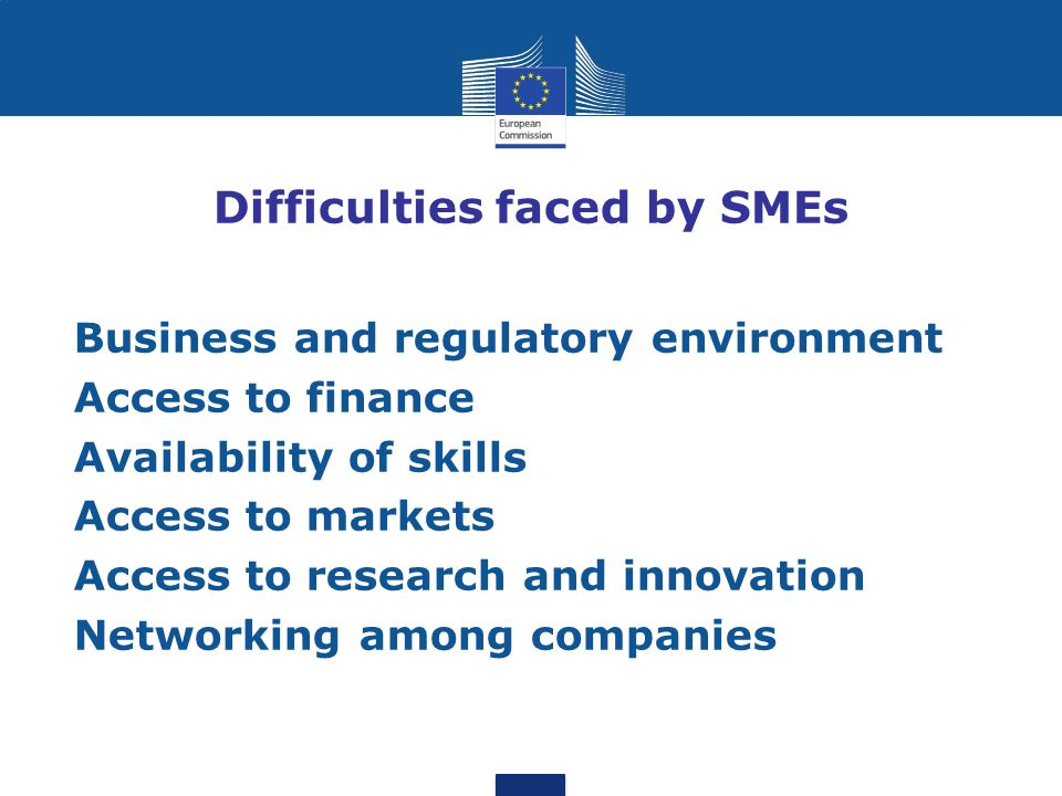 Difficulties faced by SMEs
