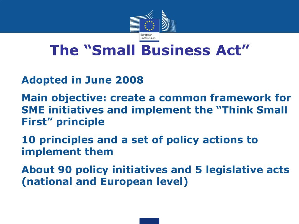 The Small Business Act
