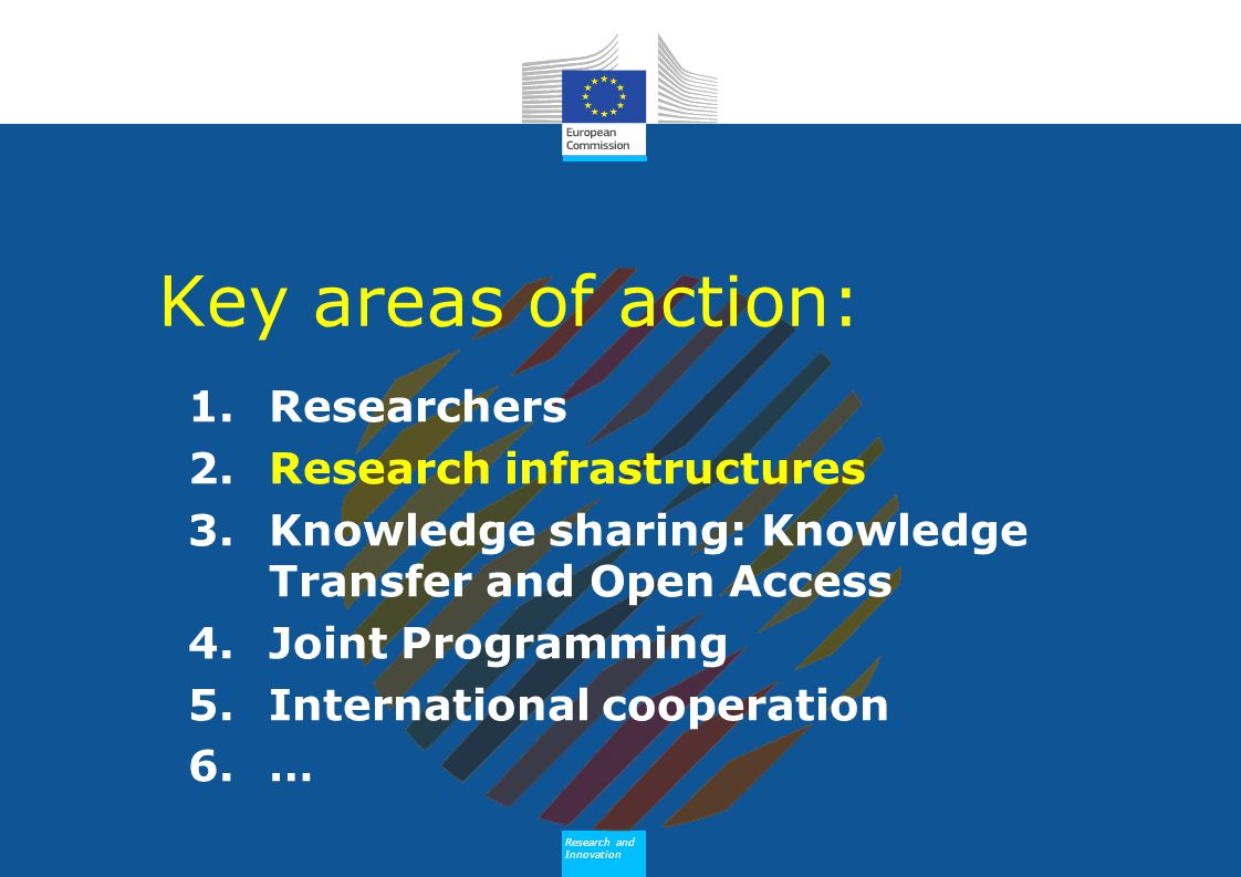 Key areas of action: Researchers Research infrastructures