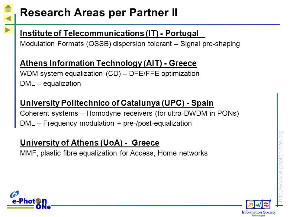 Research Areas per Partner II