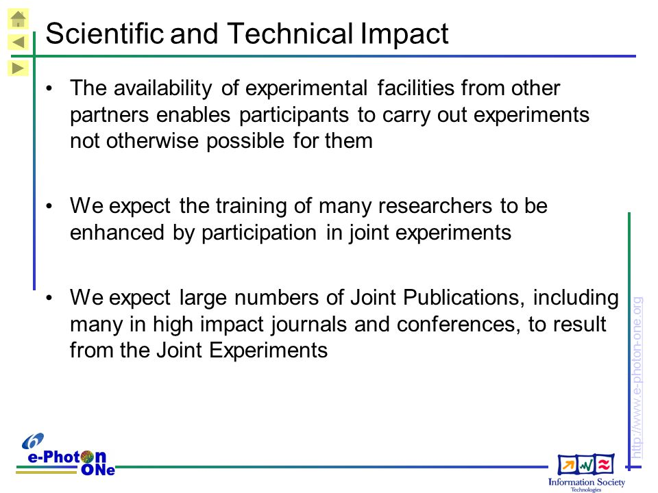 Scientific and Technical Impact