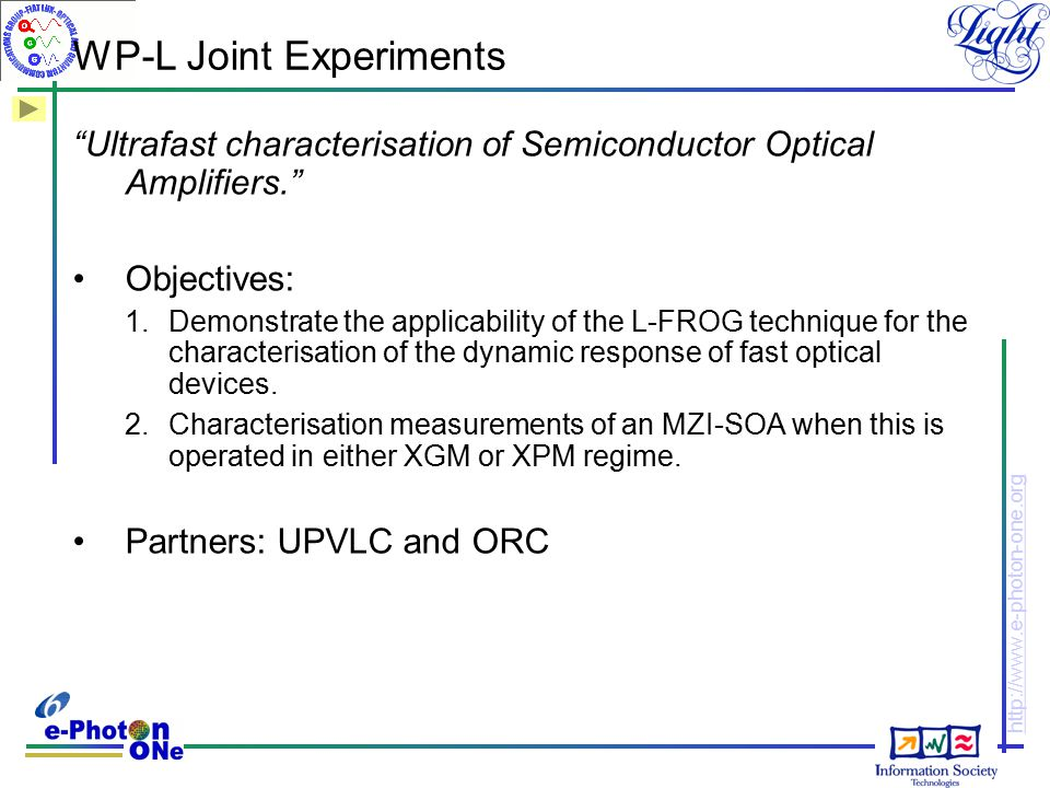 WP-L Joint Experiments