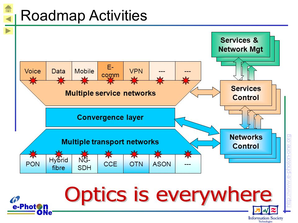 Multiple service networks