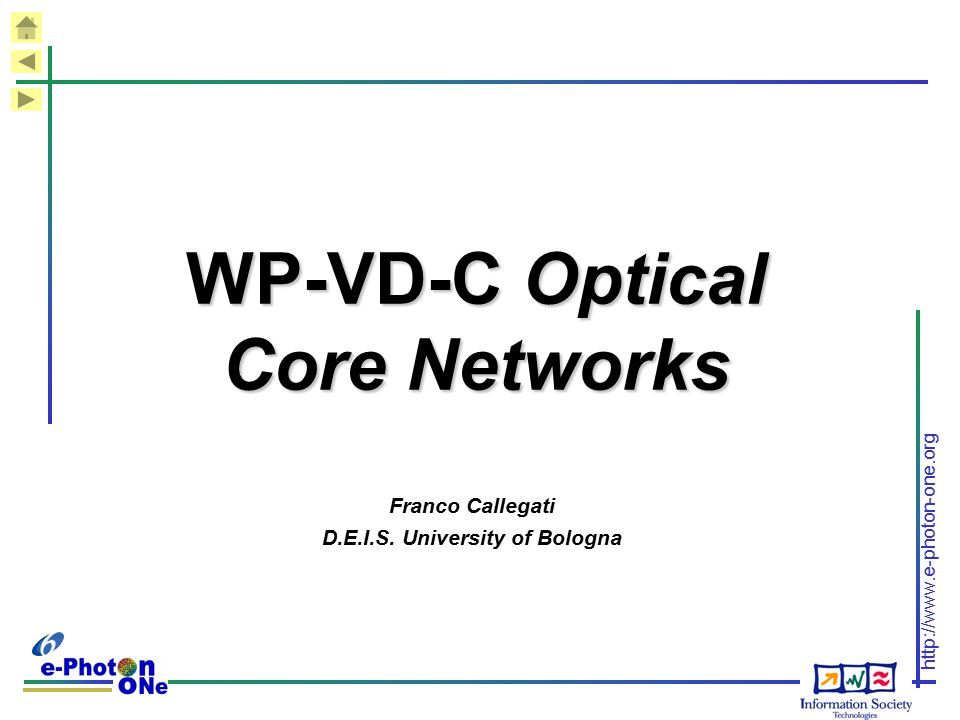 WP-VD-C Optical Core Networks