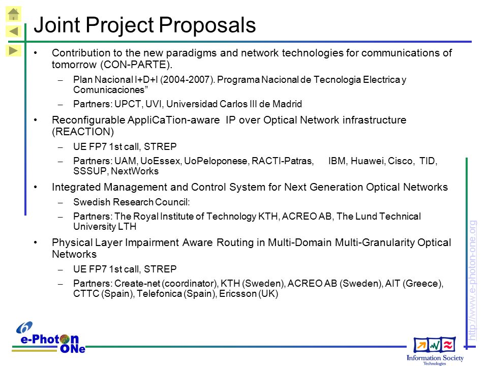 Joint Project Proposals