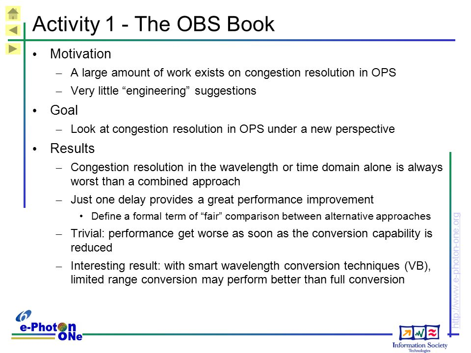 Activity 1 - The OBS Book Motivation Goal Results