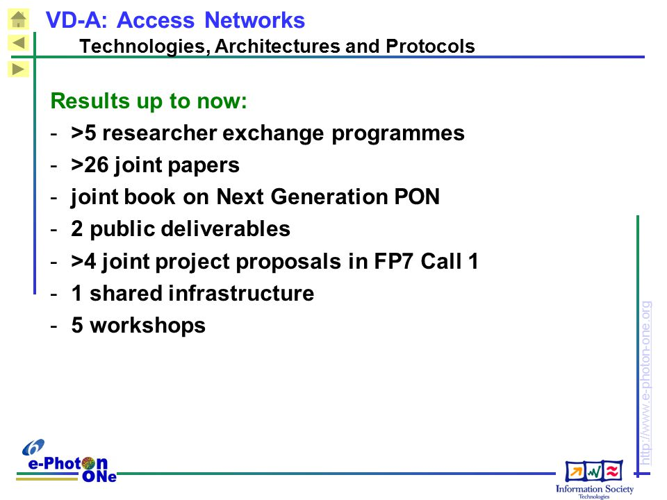 VD-A: Access Networks Technologies, Architectures and Protocols