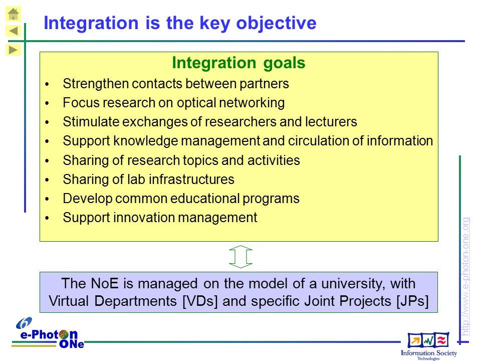 Integration is the key objective