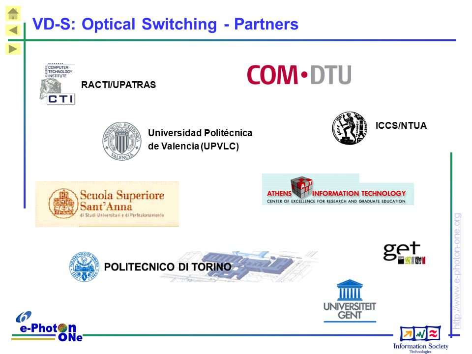 VD-S: Optical Switching - Partners