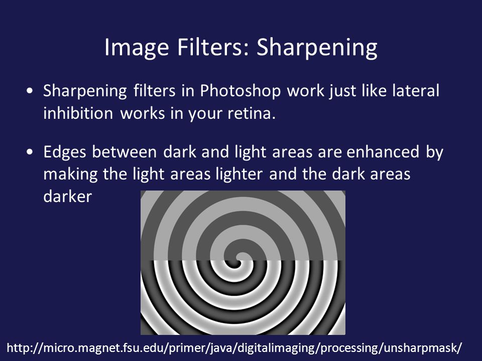 Image Filters: Sharpening
