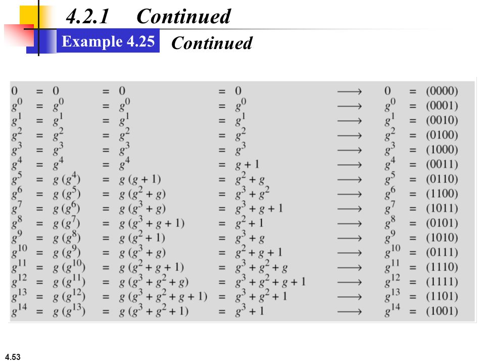 4.2.1 Continued Example 4.25 Continued