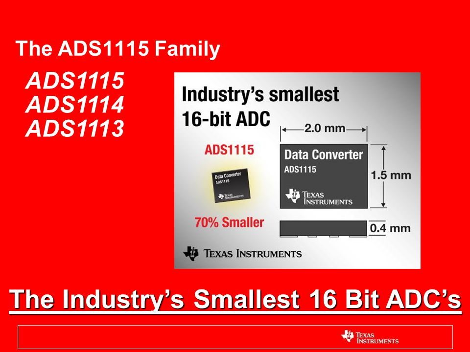 The Industry's Smallest 16 Bit ADC's