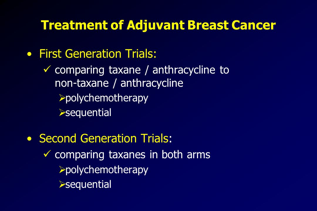 Treatment of Adjuvant Breast Cancer