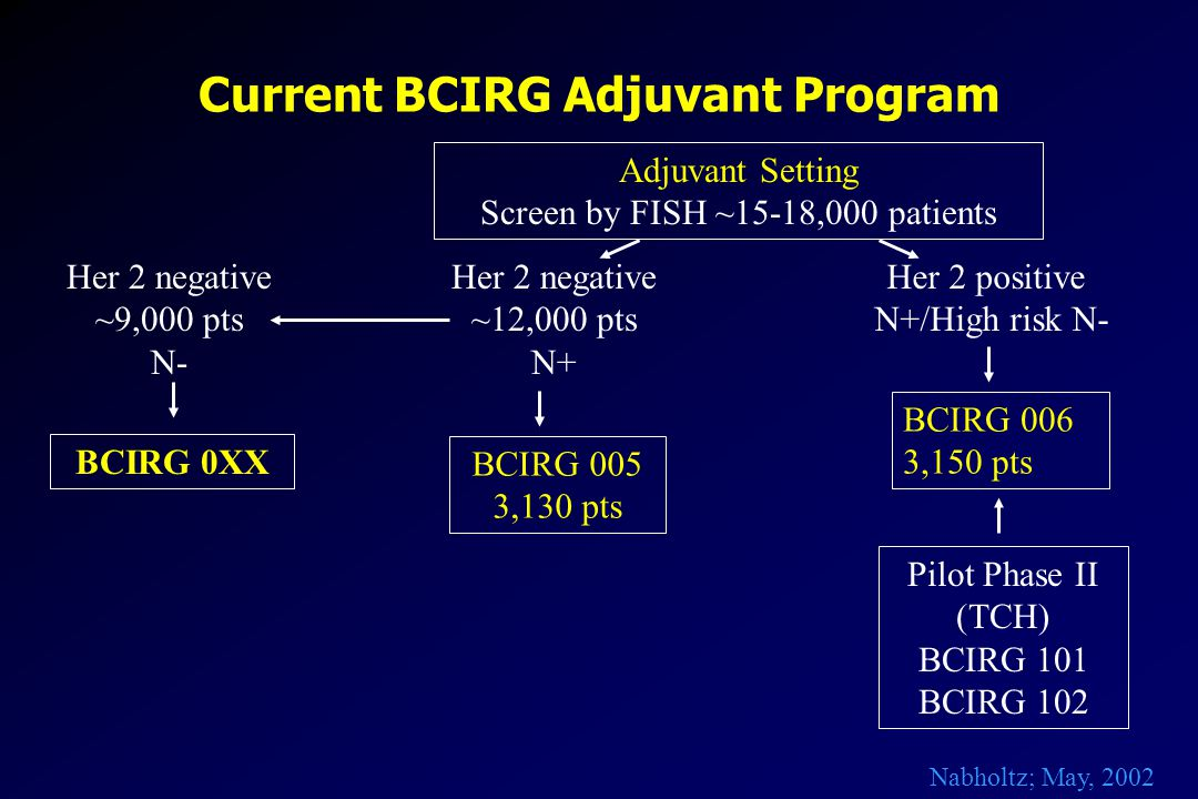 Current BCIRG Adjuvant Program