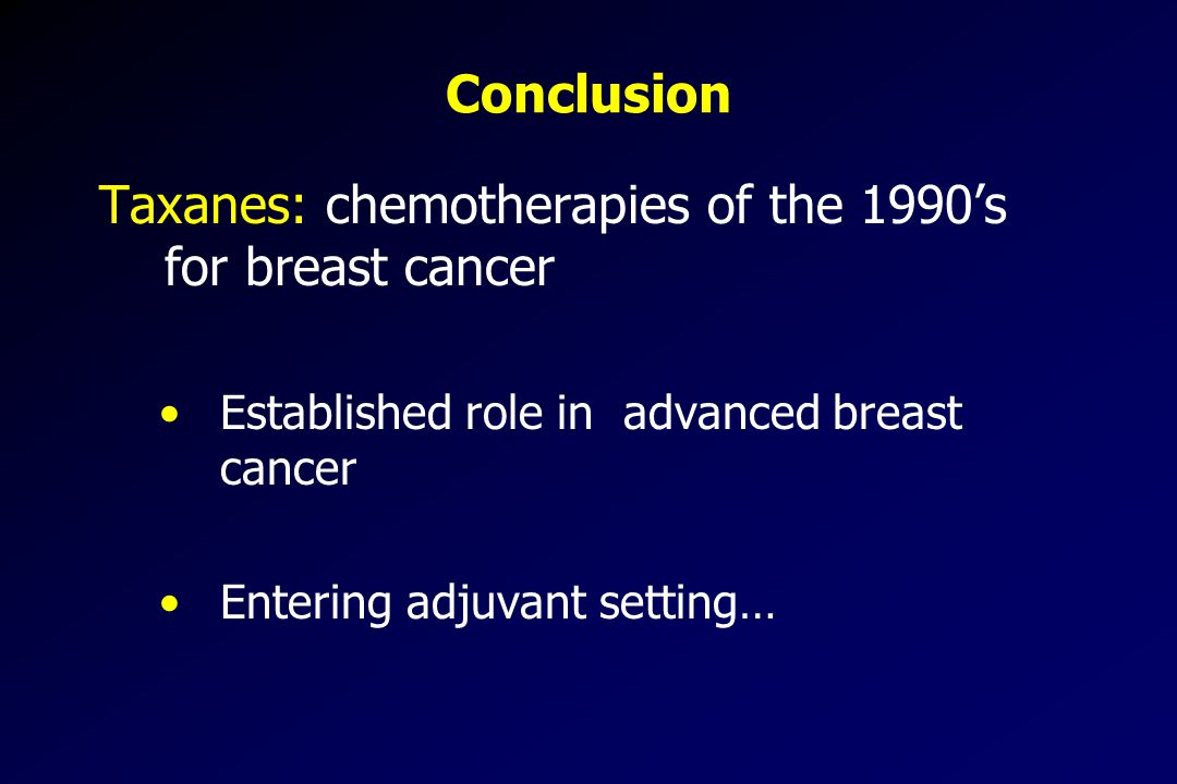 Taxanes: chemotherapies of the 1990's for breast cancer