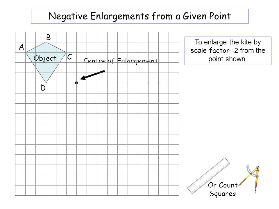 X2 Enlargements from a Given Point A/ B/ D/ C/ A B D C - ppt download