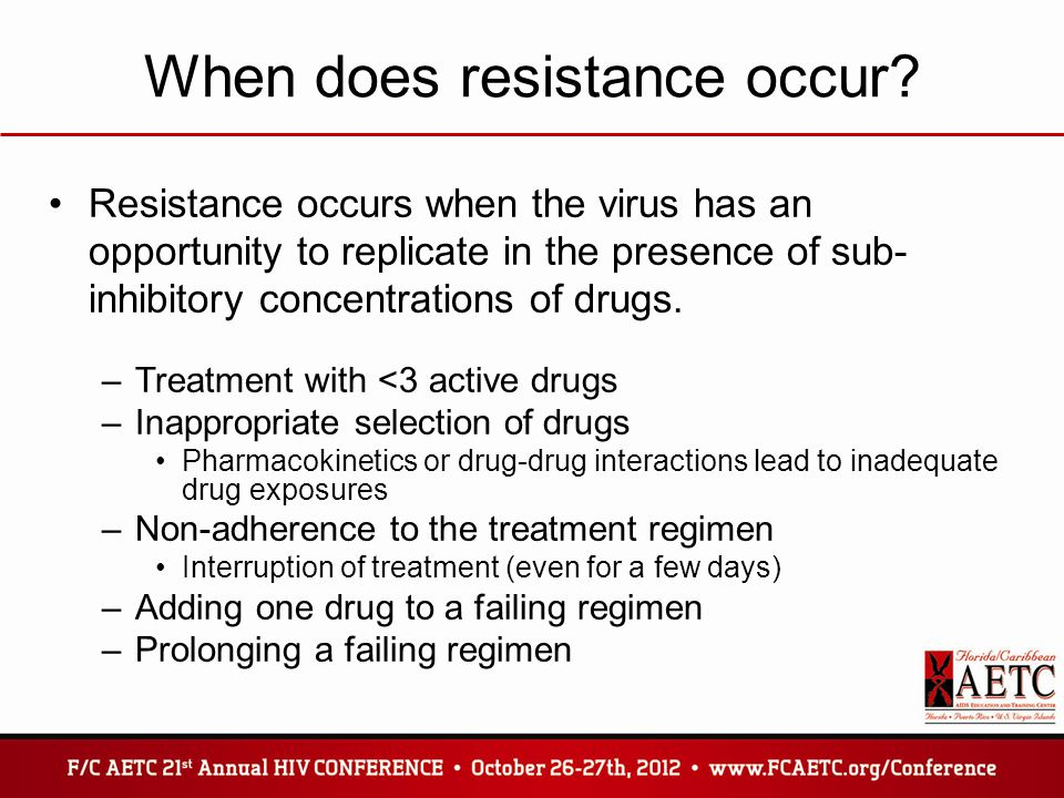 When does resistance occur