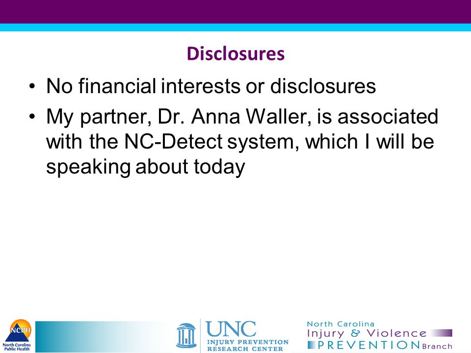 Disclosures No financial interests or disclosures.