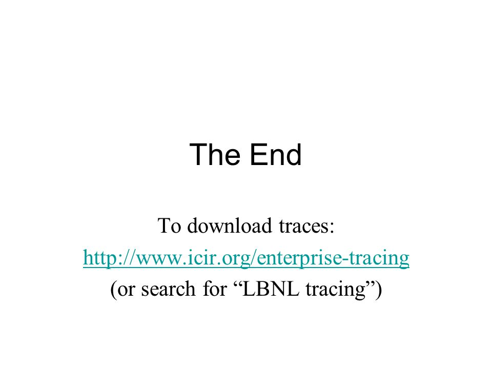 (or search for LBNL tracing )