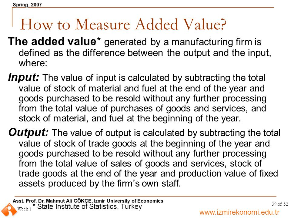 How to Measure Added Value