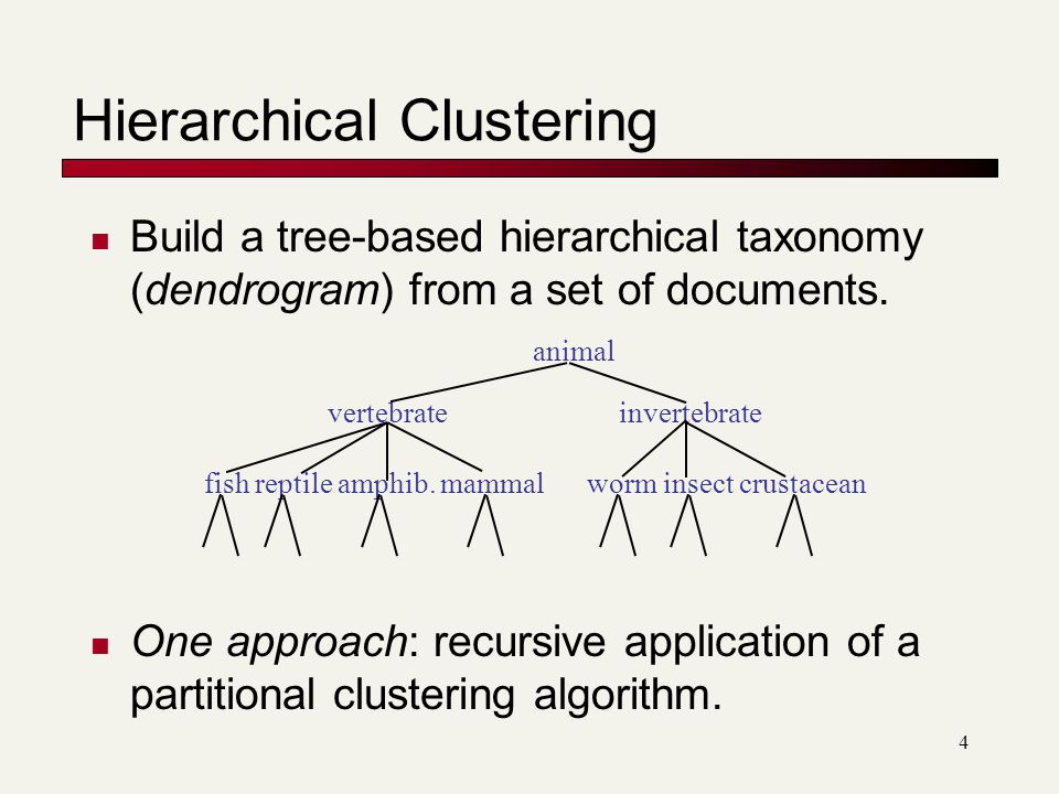 Hierarchical Clustering - ppt video online download