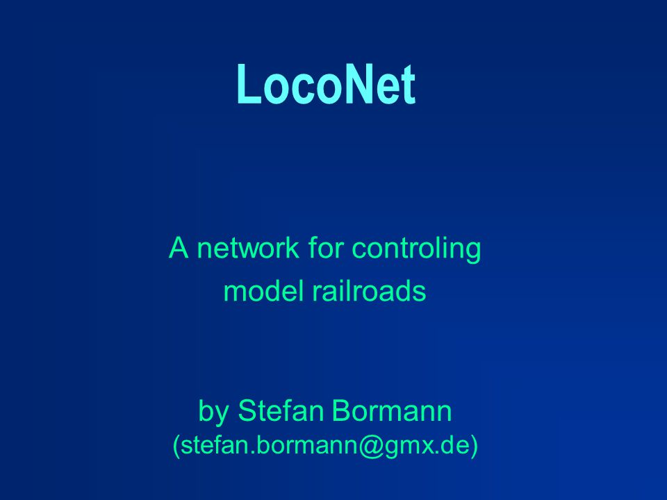 A network for controling model railroads