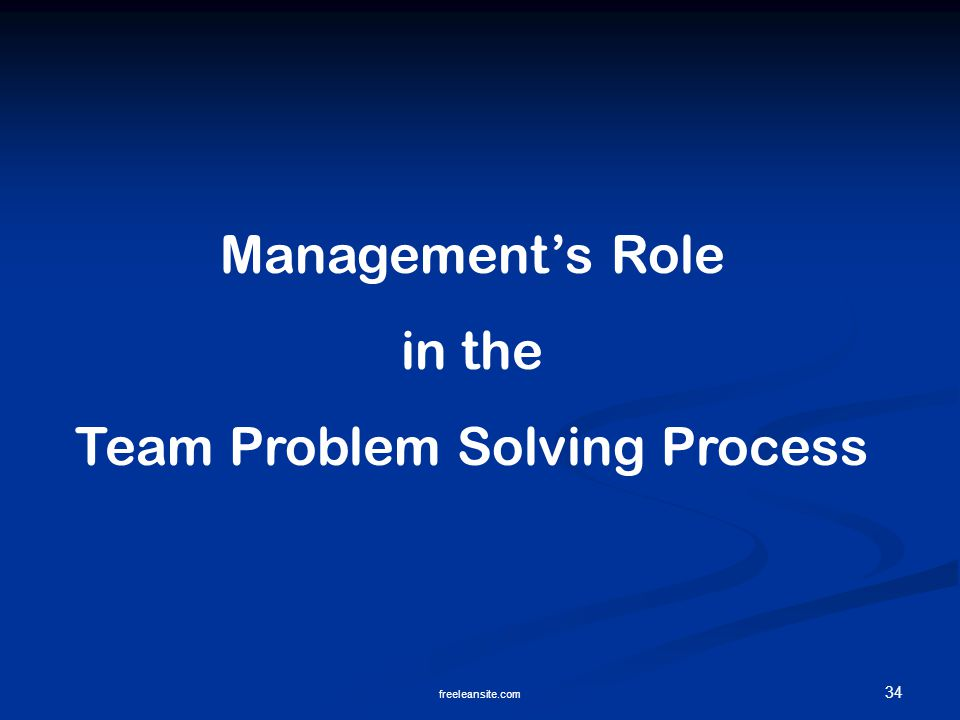 Team Problem Solving Process