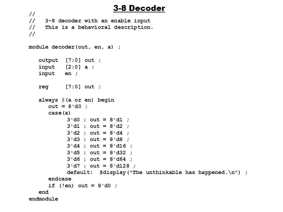 Vhdl code for 3 to 8 decoder using dataflow modelling tutorial