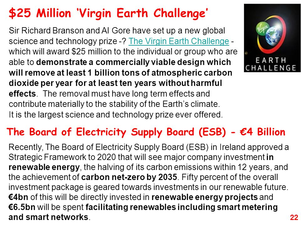 $25 Million 'Virgin Earth Challenge'