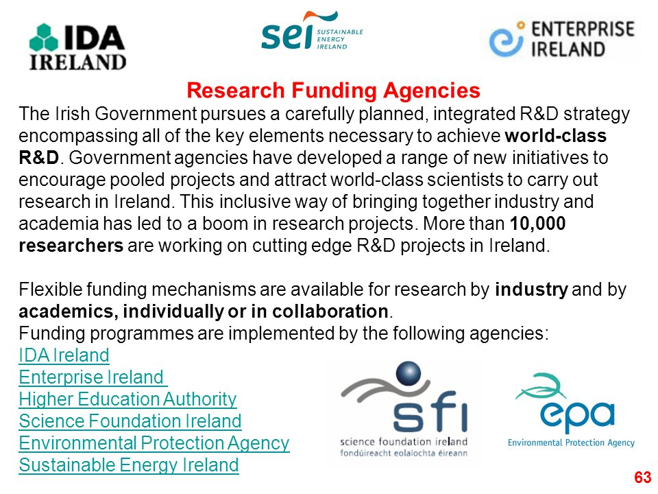 Research Funding Agencies