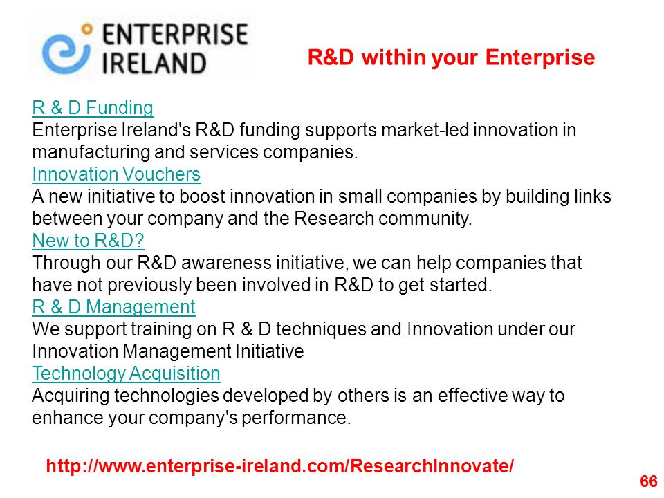 R&D within your Enterprise