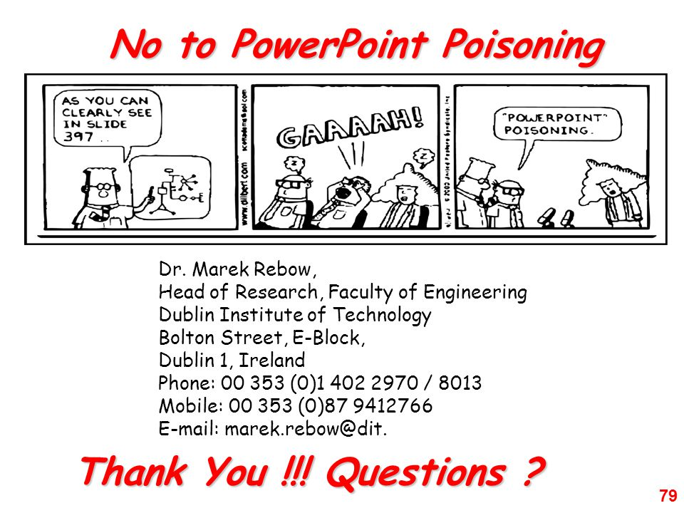 No to PowerPoint Poisoning