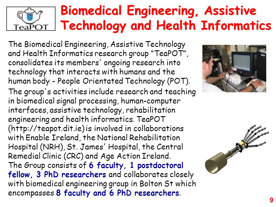 Biomedical Engineering, Assistive Technology and Health Informatics