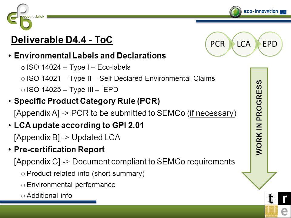 Wp4 Task 44 Lca Activities Ppt Video Online Download