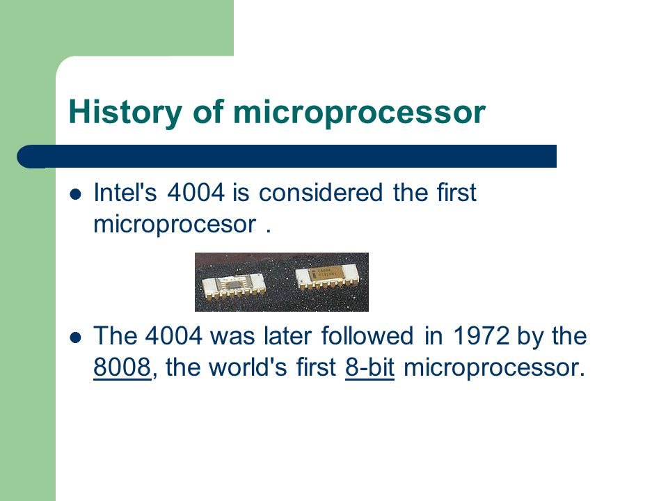 History of microprocessor