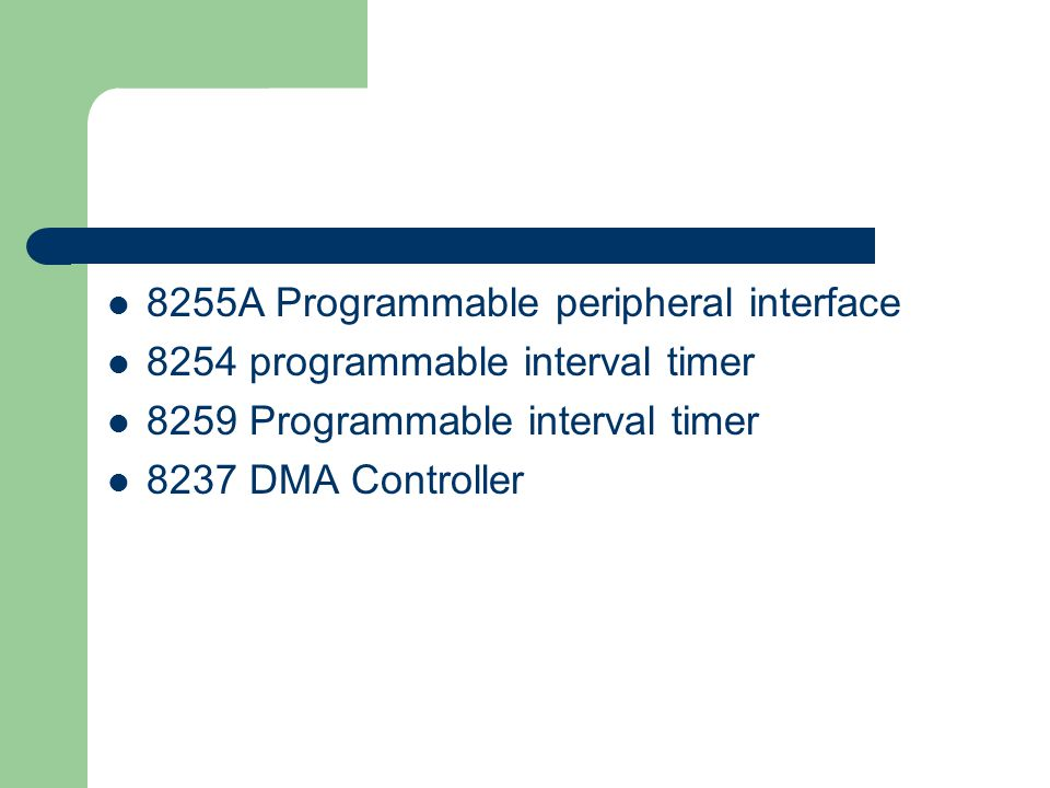 8255A Programmable peripheral interface
