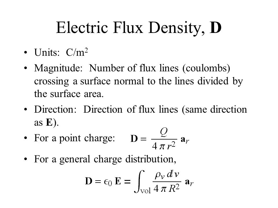 Electric Flux Density, Gauss's Law, and Divergence - ppt