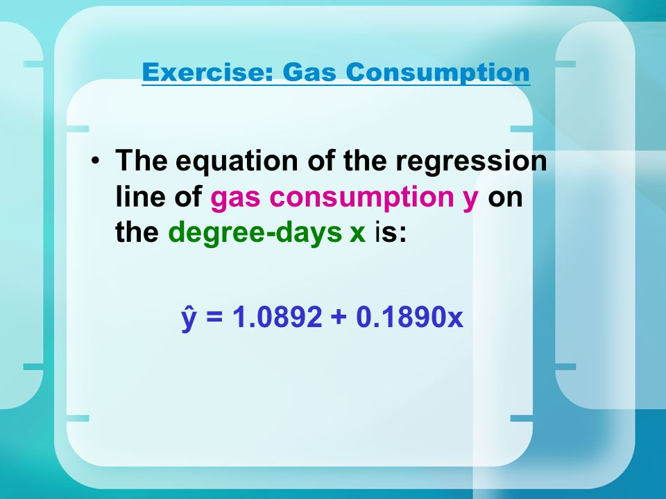 Exercise: Gas Consumption