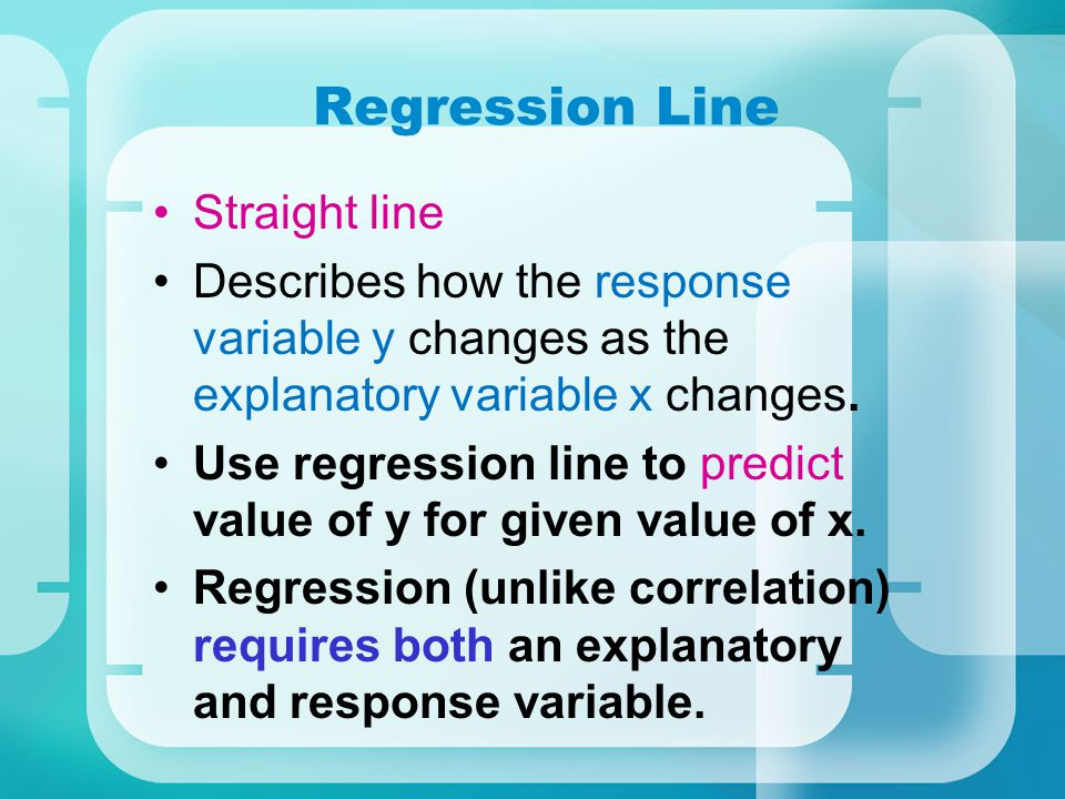Regression Line Straight line