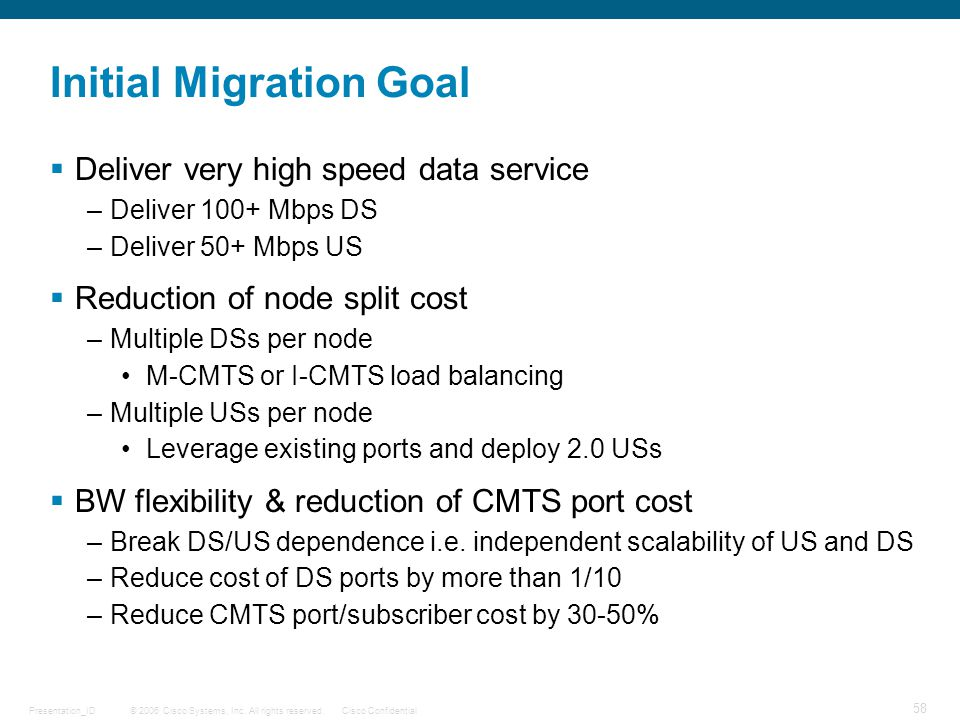 Initial Migration Goal