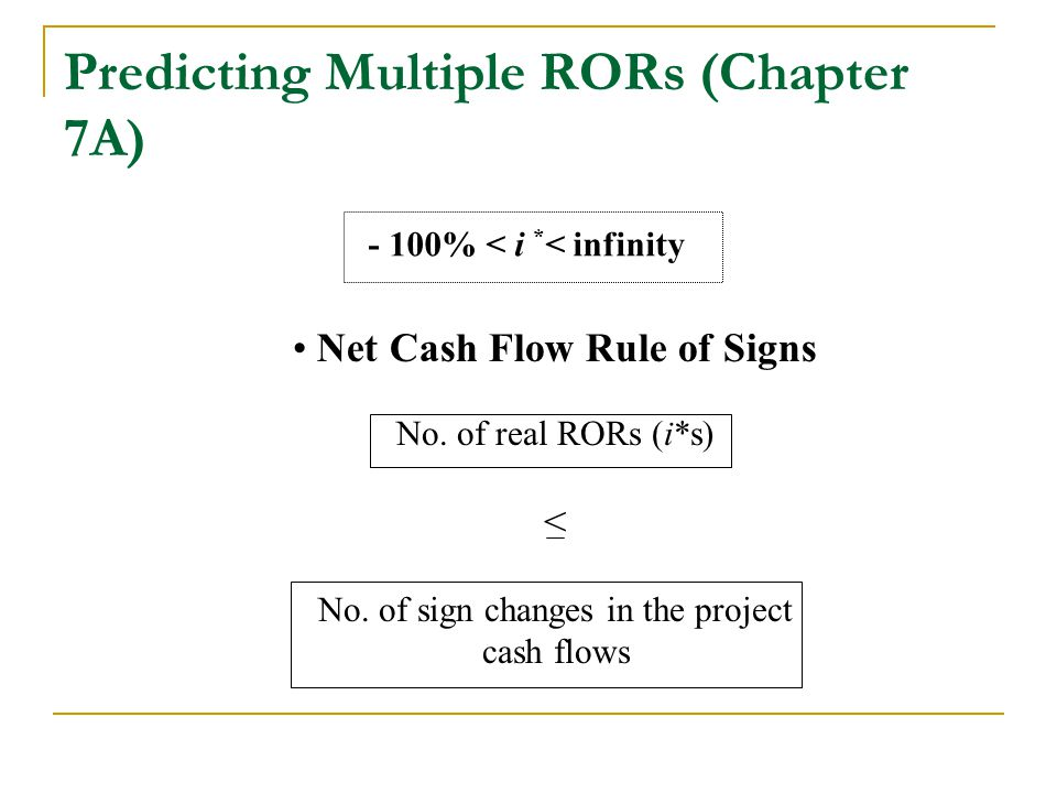 Predicting Multiple RORs (Chapter 7A)
