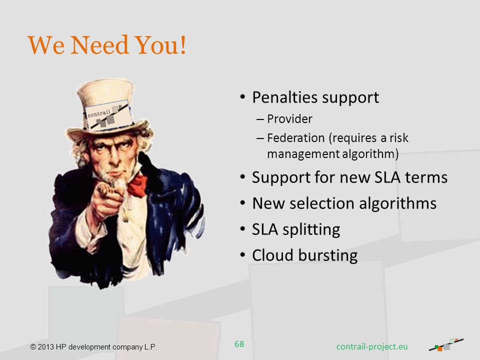 We Need You! Penalties support Support for new SLA terms