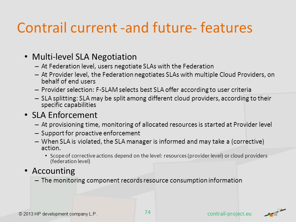 Contrail current -and future- features