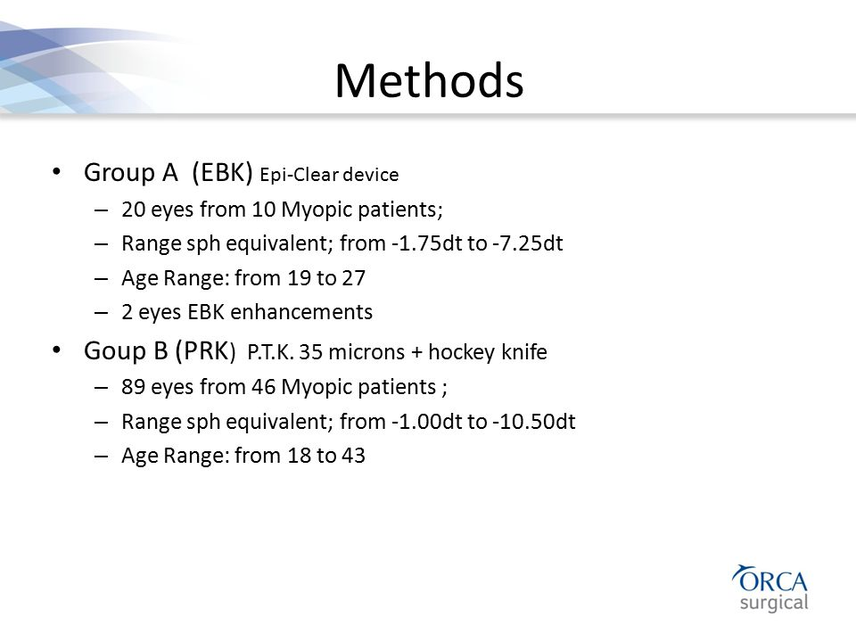 Methods Group A (EBK) Epi-Clear device